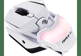 MAD CATZ R.A.T. 2+ Optical Gaming Maus, Weiß