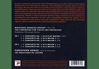 Les Musiciens Du Louvre - Mozart's Violin-The Complete Violin Concertos  - (CD)