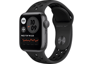 APPLE Watch Nike SE GPS 40mm Aluminiumgehäuse Space Grau mit Nike Sportband Anthrazit/Schwarz