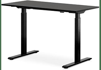 WRK21 120x60 cm elektronisch höhenverstellbarer Steh-Sitz Schreibtisch, Tischgestell: Schwarz Tischplatte: Schwarz