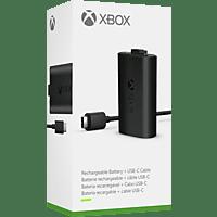 MICROSOFT Xbox Play & Charge Kit, Play & Charge Kit, Schwarz