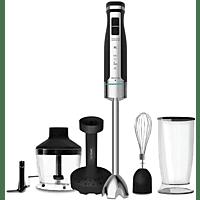 Batidora de mano - Cecotec Powergear 1500 XL MASH PRO, 800 ml, 1500 W, Barillas, Picadora, Pasapurés, Negro