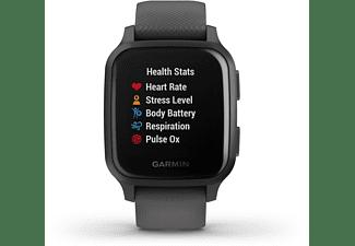 GARMIN Venu SQ Smartwatch Polymer Silikon, -, Grau/Schiefer