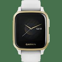 GARMIN Venu SQ Smartwatch Polymer Silikon, -, Weiß/Gold