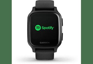GARMIN Venu SQ Music Smartwatch Polymer Silikon, -, Schwarz/Schiefer