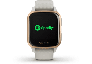 GARMIN Venu SQ Music Smartwatch Polymer Silikon, -, Beige/Rosegold