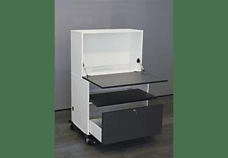 TREND INTERIOR Mobiler Arbeitsplatz Schreib- und Computertisch, Diamantgrau, Platinweiß