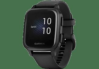 GARMIN Smartwatch Venu Sq Music, Schwarz/Schiefer (010-02426-10)
