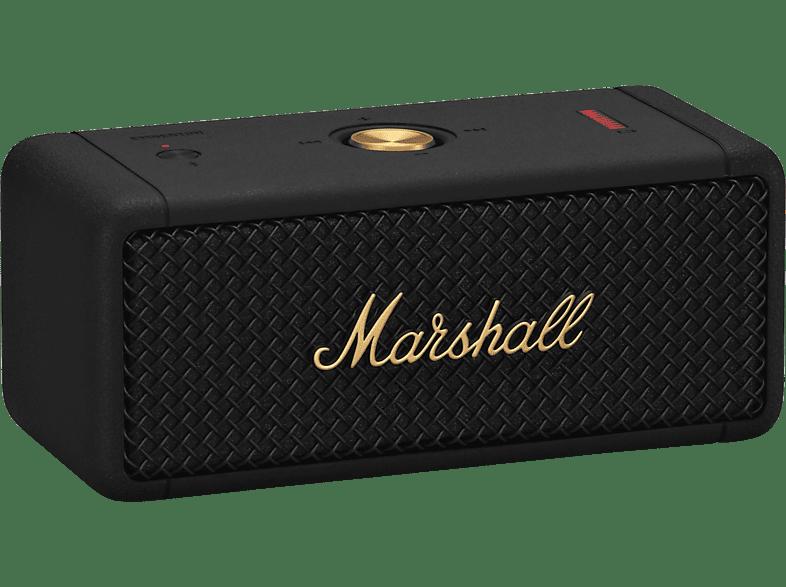MARSHALL Emberton Bluetooth Lautsprecher, Schwarz/Gold, Wasserfest