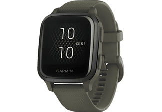 GARMIN Smartwatch Venu Sq Music, Moosgrün/Schiefergrau (010-02426-13)