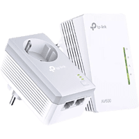TP-LINK AV600 Powerline Extender Kit mit Steckdose, weiß (TL-WPA4226KIT)