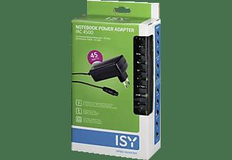 ISY Universelles Notebook-Netzteil IAC-4500-1, 45 Watt, Schwarz