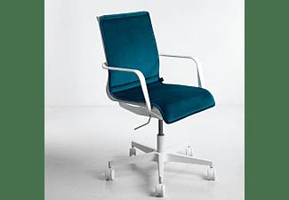 WRK21 Sitzkissen aus Samt passend zu 3D-Chair Design Sitzauflage, Petrol Blau