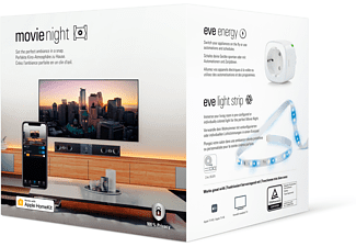 EVE Movie Night - Smarter LED-Lichtstreifen & smarte Steckdose Kit