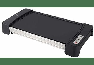 Plancha de asar - Jata GR2600, 2600 W, Hierro fundido, Electrónica, 460 x 280 mm, Gris