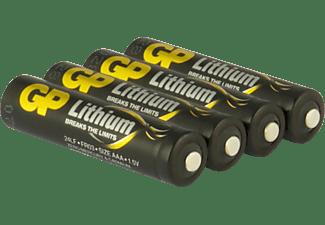 GP AAA AAA Batterie, LITHIUM , 1,5 Volt 4 Stück