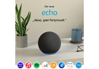 AMAZON Echo (4. Generation), mit Alexa, Smart Speaker, Anthrazit