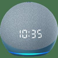 AMAZON Echo Dot (4. Generation) mit Uhr, mit Alexa, Smart Speaker, Blaugrau