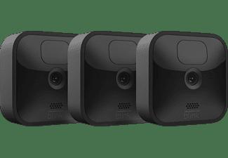 AMAZON Blink Outdoor Kamera, 3. Generation/2020, 3er-Pack, Set inkl. Sync-Modul 2, Schwarz (53-024850)