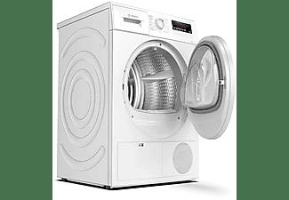 Secadora - Bosch WTR85V91ES, Bomba de calor, 8 kg, Display LED, Tambor de acero, Blanco