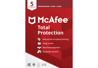 McAfee Total Protection voor 5 apparaten (1 Jaar)