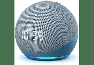 Altavoz inteligente con Alexa - Amazon Echo Dot (4ª Gen) con Reloj, Controlador de Hogar, Azul