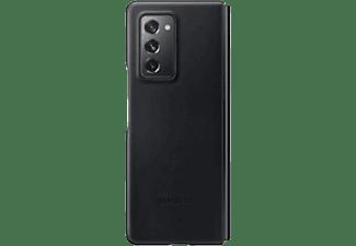 SAMSUNG Leather Cover, Backcover, Samsung, Galaxy Z Fold2 5G, Schwarz