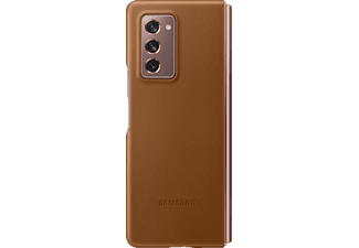 SAMSUNG Leather Cover, Backcover, Samsung, Galaxy Z Fold2 5G, Braun