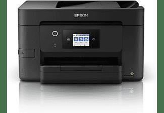 Impresora - Epson WorkForce Pro WF-3825DWF, Inyección de tinta, 4800 x 2400 DPI, 21 ppm, A4, Wifi, Negro