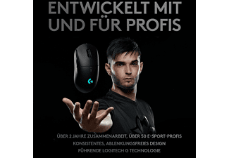 LOGITECH G PRO Wireless Gaming Maus, Schwarz