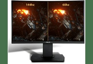 "Monitor gaming - Asus VG24VQ, 23.6"", Full-HD, Curvo, 1 ms, 144 Hz, FreeSync, Shadow Boost, Negro"