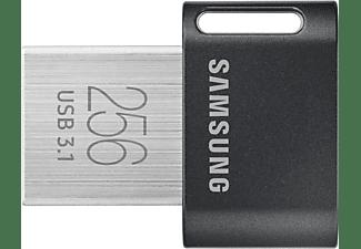 Memoria USB 256 GB - Samsung FIT Titan Gray Plus, 300 MB/s Lectura, USB 3.1 Flash Drive, Gris