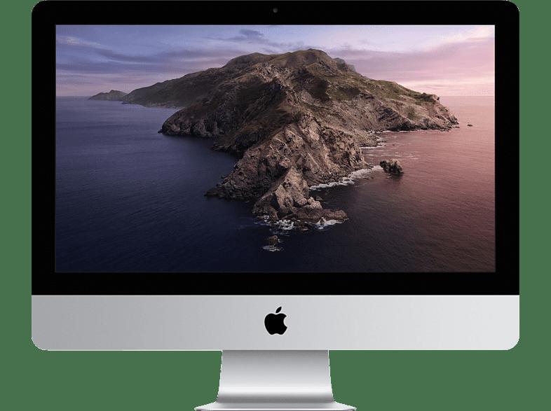 APPLE MHK03D A iMac 2020, All-in-One PC mit 21,5 Zoll Display, Intel Core i5 Prozessor, 8 GB RAM, 256 SSD, Intel Iris Plus Grafik 640, Silber