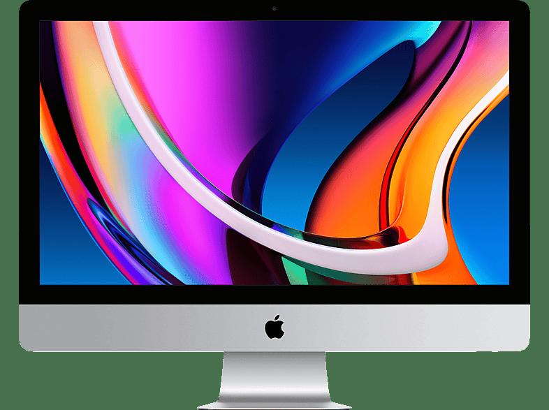 APPLE MXWU2D A iMac 2020, All-in-One PC mit 27 Zoll Display, Core i5 Prozessor, 8 GB RAM, 512 SSD, Radeon Pro 5300, Silber