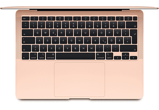 APPLE MVH52D/A Macbook Air, Notebook mit 13,3 Zoll Display, Core™ i5 Prozessor, 8 GB RAM, 512 GB SSD, Intel Iris Plus Graphics, Gold