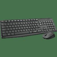 LOGITECH MK235 Combo Wireless, Tastatur-Maus Set, Anthrazit