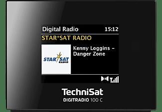 TECHNISAT DIGITRADIO 100 C DAB+ Radio, DAB+, FM, Bluetooth, Schwarz