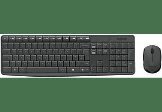 LOGITECH MK235 Combo Wireless, Tastatur & Maus Set, Anthrazit
