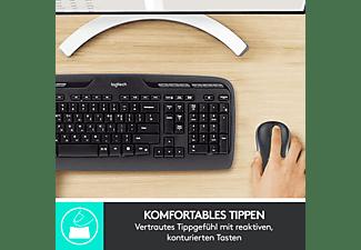 LOGITECH MK330, Tastatur & Maus Set, Schwarz