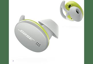 Auriculares Bluetooth - Bose Sport Earbuds, Control táctil, 5h, Resistente al sudor y la lluvia, Blanco