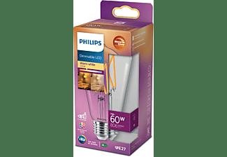 PHILIPS LED classic WarmGlow Lampe ersetzt 60W LED Lampe E27 warmweiß 7 Watt 806 Lumen