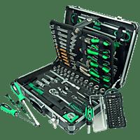 MANNESMANN 29078 Werkzeugkoffer 160-teilig Handwerkzeug, Silber/Grün/Schwarz