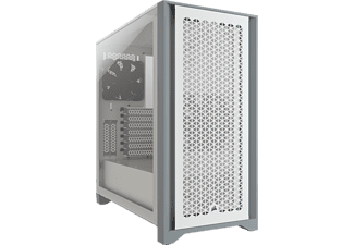 CORSAIR 4000D AIRFLOW Tempered Glass Mid-Tower - Boîtier PC (Blanc)