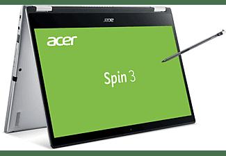 ACER Spin 3 (SP314-54N-51HV), Convertible mit 14 Zoll Display, Core i5 Prozessor, 8 GB RAM, 1 TB SSD, Intel Iris Plus Grafik, Silber