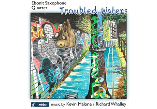 Ebonit Saxophone Quartet - 'TROUBLED WATERS': MUSIC FOR SAXOPHONE QUARTET  - (CD)