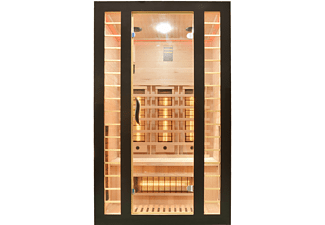SANOTECHNIK FRESH-BLACK Infrarotkabine für 2 Personen, 1860 Watt (J12120)