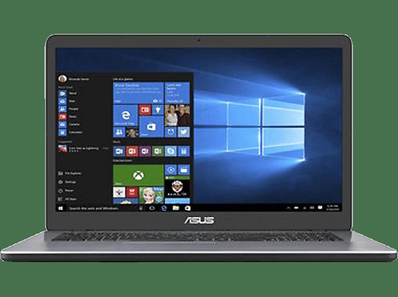 ASUS VivoBook 17 F705, Notebook mit 17,3 Zoll Display, Intel Pentium Prozessor, 8 GB RAM, 512 SSD, HD Grafik 510, Star Grey