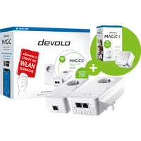 DEVOLO 8614-8559 Magic 2 WiFi Next SK + Magic 1 WiFi Mini SGL Powerline-Adapter 2400 Gbit/s Kabellos und Kabelgebunden