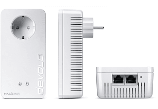 DEVOLO 8614-8559 Magic 2 WiFi Next SK + Magic 1 WiFi Mini SGL Powerline-Adapter 2400 Gbit/s Kabellos und Kabelgebunden