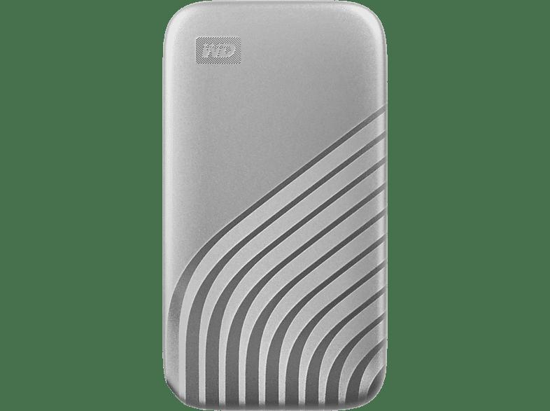 WD My Passport™, 1 TB SSD, 2.5 Zoll, extern, Silber